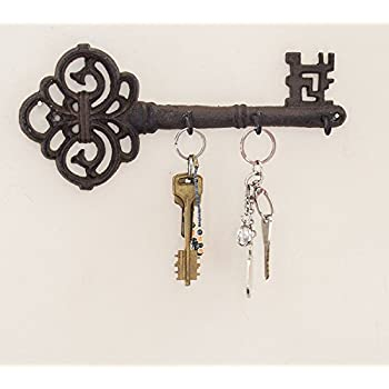 Amazon.com: Decorative Wall Mounted Key Holder | Vintage Key With ...