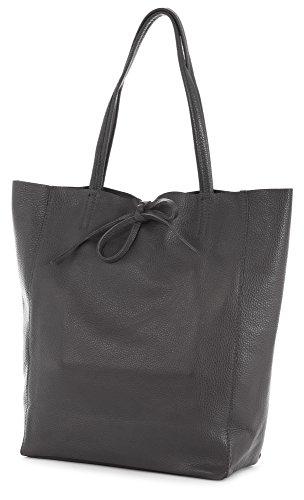 Soft Leightweight Italian LIATALIA Hobo ASTRID Tote Leather Genuine Shoulder Large Handbag Coffee Shopper gxEq1Z