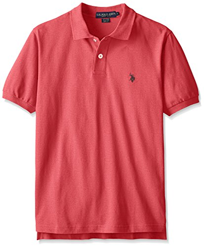 (U.S. Polo Assn. Men's Classic Polo Shirt, Red Heather, M)