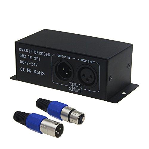 (ALITOVE DMX to SPI Decoder Controller for WS2812B WS2811 WS2812 SK6812 WS2801 WS2813 1903 6803 1809 LED Pixels Light Strip DC5V~24V)