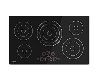 "LG LCE3610SB 36"" Black Electric Smoothtop Cooktop"