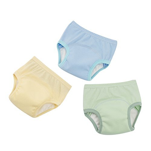 (3 Pcs Baby Toddler Breathable Cotton Training Pants Waterproof Cartoon Kinder Potty Underwear (80/1-2 Years, A) )