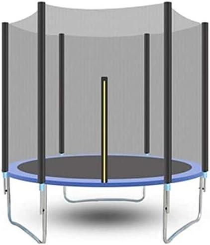 WOHAO Columpio A través de la Prueba de trampolín Cubierta de Seguridad con Safety Net Ronda Jardín Trampolín Escalera y Parachoques Bar al Aire Libre Azul 306 Cm Trampolines de Interior