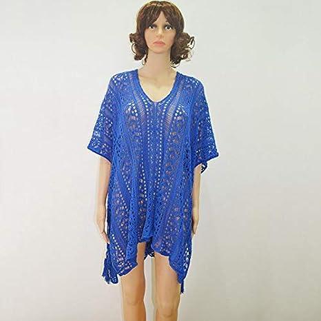 LHSTWQU Vestido de Playa con Crochet, Tops, Bikini, Traje de Playa ...