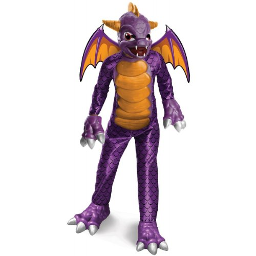Boy's Deluxe Skylanders Spyro Costume, Purple ,Large 12-14
