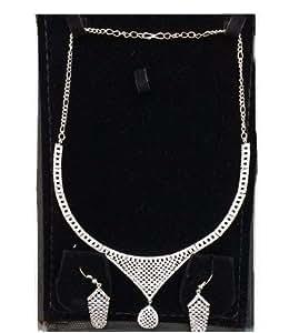 zircon Necklace Earrings Bridal Jewelry Sets