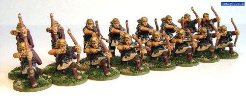 Pack Of 8 Imperial Roman Western Auxiliary Archer Miniatures by Warlord - Miniature Western