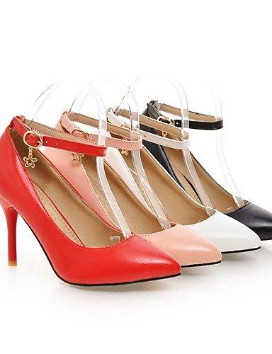 tacco casuale EU35 us5 Desktop Ijkmn Donne punta PU a Rosa bianco nero punta carriera CN34 UK3 rosa scarpe con GGX rosso HPgngTI