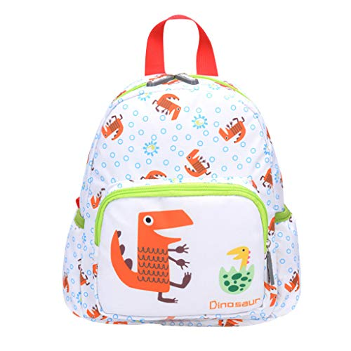 Preschool Backpack Cute Cartoon Animal Pattern School Rucksack Large Capacity Bookbags (S, Green) ()