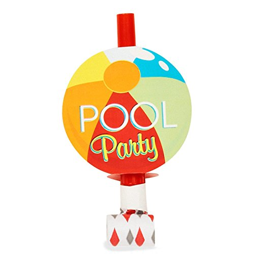Summer Beach Ball Pool Party Supplies - Blowouts (8)