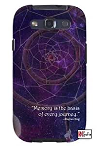 Cool Painting Dream Catcher Outer Space Stephen King Quote Unique Quality Soft Rubber Case for Samsung Galaxy S4 I9500 - White Case