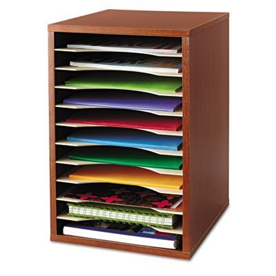 Wood Desktop Literature Sorter, 11 Sections 10 5/8 x 11 7/8 x 16, Cherry, Sold as 1 Each