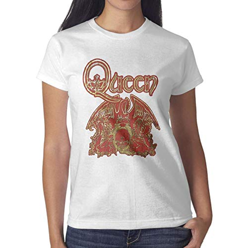 MUSOWIC Queen-Gold-Foil-Black-Baby-Doll- Women's T-Shirts Soft Fitness O-Neck Short Sleeve Tops -