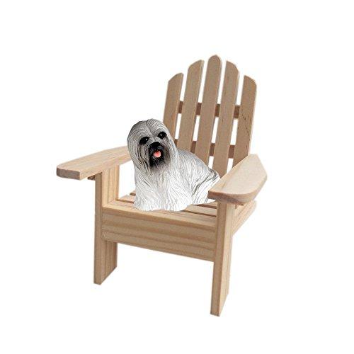Grey Lhasa Apso Terrier Adirondack Chair