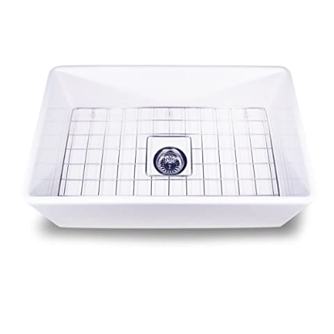 Nantucket Sinks T-FCFS-30 30-Inch Single Bowl Fireclay Farmhouse Kitchen Sink, White