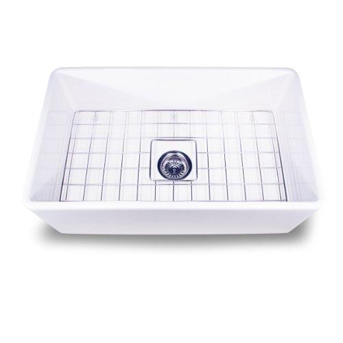 Nantucket Sinks T-FCFS-30 30-Inch Single Bowl Fireclay Farmhouse Kitchen Sink,