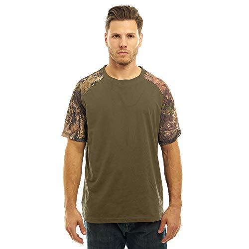 - TrailCrest Mossy Oak Mens Camo Crew Neck Short Sleeve Cotton T-Shirt - Perfect Casual Apparel