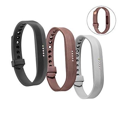 Bands for Fitbit Flex 2, TreasureMax Replacement Bands with Secure Fastener for Fitbit Flex 2 bands/ Fitbit Flex 2 Bracelet/ Fitbit Flex 2 Wristband/ Fitbit Flex 2 band
