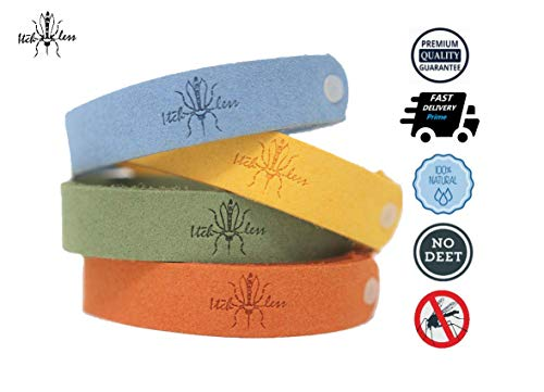 Itchless Mosquito Repellent Bracelet 12pk 100% Essential Oil Non Toxic, Camping, Safe Deet-Free Band, Soft Fiber Material for Kids & Adults, Potent, Keep Mosquitos, Tics, Flies, Gnats, Fleas Away