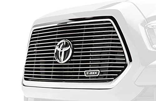 Billet Series Polished Aluminum Main Grille Insert with Logo Recess for Toyota Tacoma ()