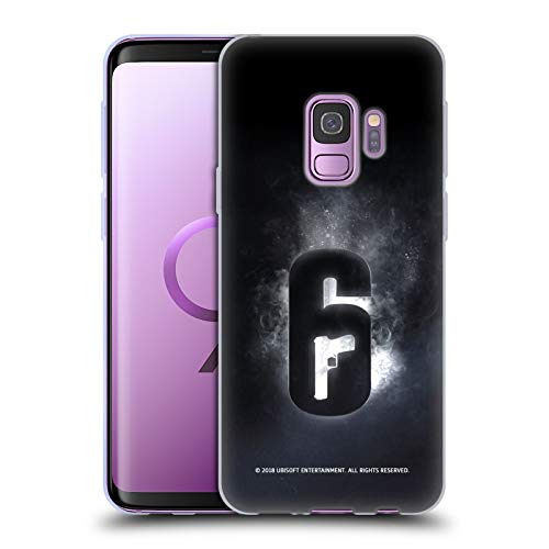 Official Tom Clancy's Rainbow Six Siege Glow Logos Soft Gel Case Compatible for Samsung Galaxy S9