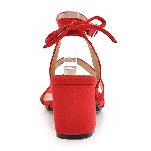 Cheville Sandales Bride Femmes Razamaza Simple Red 4wq81xOv