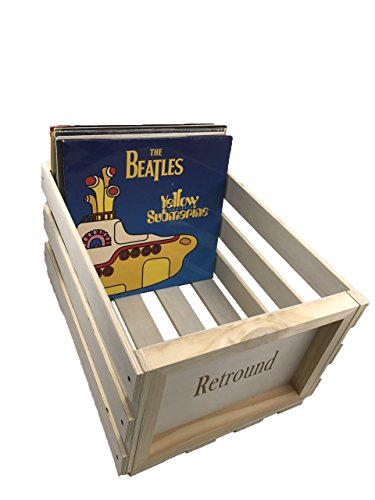 SW-B68 Retro record Holder Wood Crate Holds up to 60-80