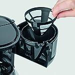 Severin-KA-4808-Macchina-per-il-Caffe-Fino-a-4-Tazze-Filtro-Permanente-Lavabile-Filtro-Oscillante-Piastra-Riscaldante-750-W-Acciaio-Inox-SpazzolatoNero