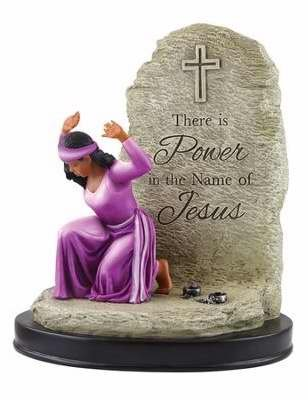 African American Figurine - African American Expressions Power in the Name of Jesus Figurine (6.25