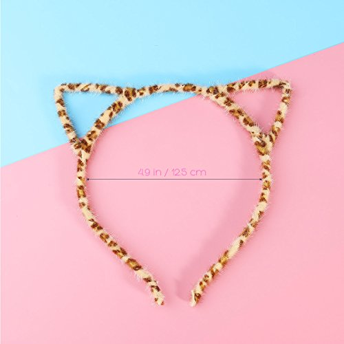 Unomor Cat Ears Hair Headband Fluffy Hair Hoop for Party and Daily Accessories, 12 Pieces with 12 Colors by Unomor (Image #3)