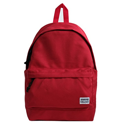 Trend Campus Casual Single Backpack Bag Student Male Red Purple Xsbao Female wCTS6Yx4q