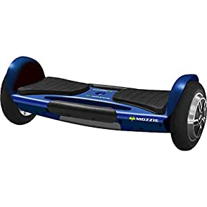 MOZZIE UL Certified, Single Platform, Auto Balancing Hoverboard with built in bluetooth speakers and tail lights - Blue