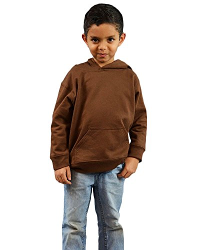 (Monag Infant Fleece Hooded Pullover 4Y Chocolate)