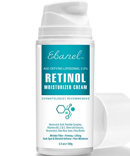 41OUEB%2B9kdL - Retinol Cream 2.5% - 3.5 Oz, Anti Aging Face Cream with Hyaluronic Acid, Peptides, Vitamin C, E, B5, Aloe Vera, Shea Butter, Retinol Face Moisturizer Night Cream Anti Aging Cream Anti Wrinkle Cream