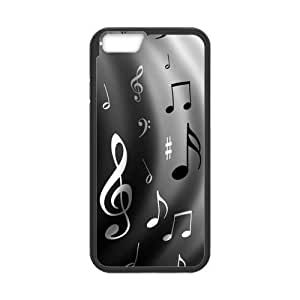 Cheap Black and White Musical Note Hardshell Cell Phone Cover Case for New iPhone 6 9933618M78469101