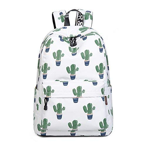 n Printed Pattern Backpack Casual Student Backpack Fit 15.6
