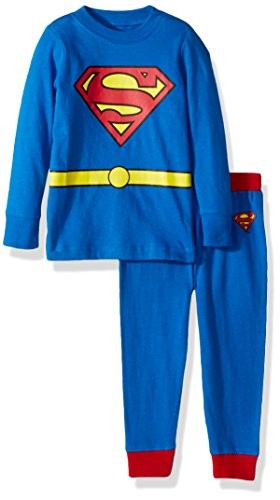DC Comics Infant Superman Superhero Cotton Costume Pajama Set, Blue/Yellow/Red]()