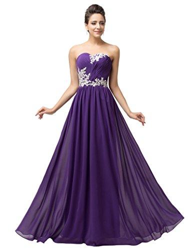 Para Vestidos Largos 12193406 Púrpura KARIN Morado GRACE Mujer Fluidos nxf6EFtXq