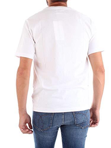 Blanc Klein T J30J309581 Shirt Calvin Homme qawvqS4x