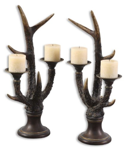 Pack of 2 Decorative Mahogany &