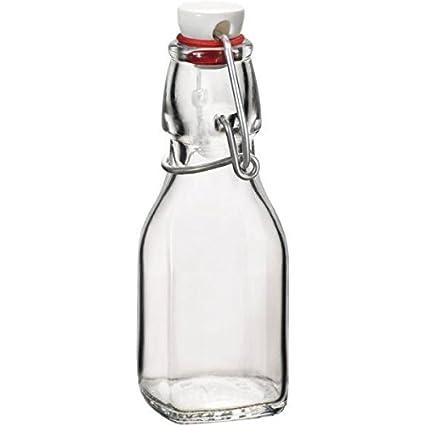 Bormioli – Botella de cristal serie Swing, con cierre de gancho