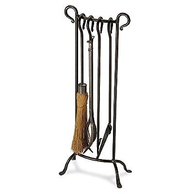 "Pilgrim Home & Hearth 18012 Bowed Fireplace Tool Set, 31"" H/16 lb, Vintage Iron"