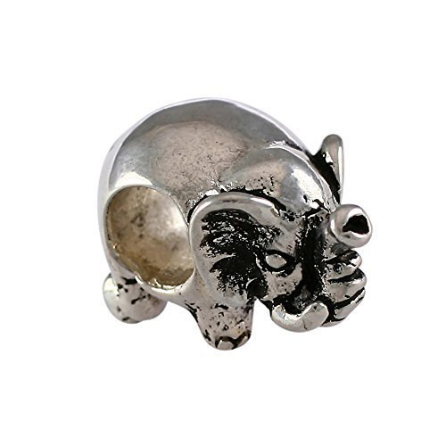 Detailed Elephant Handmade Sterling Silver Large Hole Charm Bead