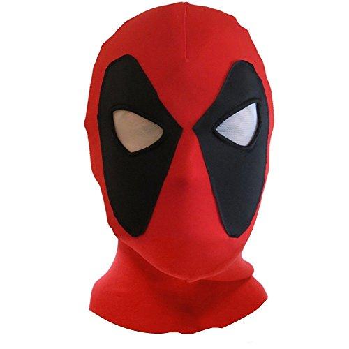 Koveinc Halloween mask Cosplay Costume Lycra Spandex Mask Red/Black Adult sizes (Adult Deadpool Costume)