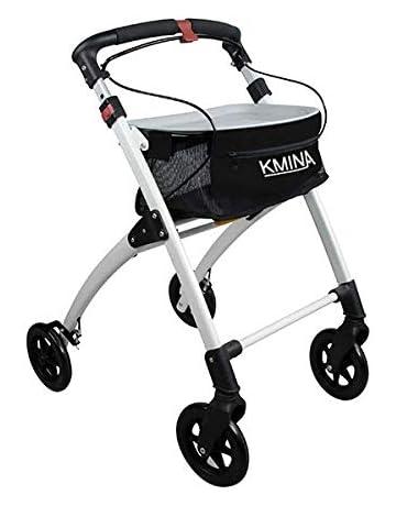 KMINA - Andador KMINA PRO Negro, Andador para adultos, Andador para mayores de aluminio