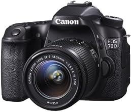 """Canon EOS 70 D - Cámara réflex digital de 20.2 Mp (pantalla articulada 3"""", estabilizador, vídeo Full HD), color negro - kit con objetivo 18-55mm f/3.5"""
