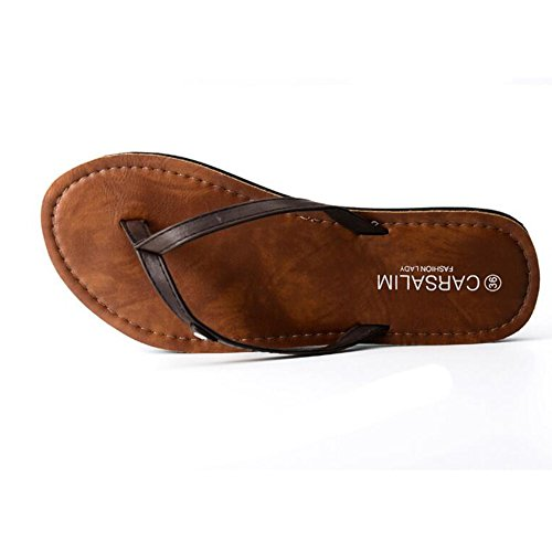 zapatos MEIDUO al cómodo de Moda verano Sandalias Marrón aire libre Chanclas Marrón Negro Sandalias sandalias de playa de Blanco qxCvd