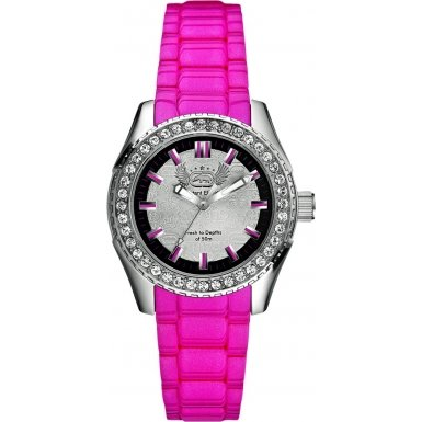Marc Ecko E11599M3 Ladies The Grandee Silver Pink Watch