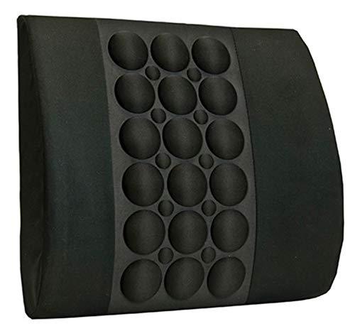 IMAK Ergo Back Cushion - Lumbar Support Cushion - 13.5 X 13.8 X 4 Inch Foam - Black - McK (Cushion Back Imak)