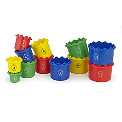 Discovery Toys Measure UP! Cups | Educational Stacking & Nesting 12 Piece Numbered Set| Kid-Powered Learning | STEM Toy Early Math Childhood Development 12 Months and Up: Toys & Games